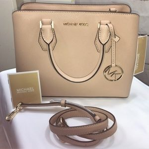 MICHAEL KORS MEDIUM SATCHEL 'Camille' in Oyster